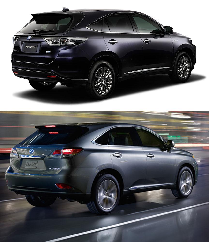 Lexus RX vs Toyota Harrier