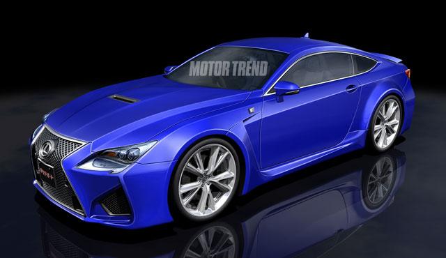 Lexus RC F Rendering from Motor Trend