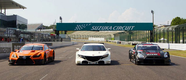 Lexus Super GT LF-CC Nissan GT-R Honda NSX