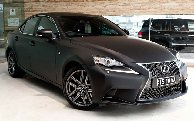 2014 Lexus IS F SPORT in Matte Black