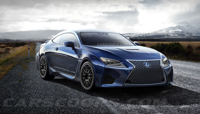 Lexus RC F Coupe Rendering Carscoops