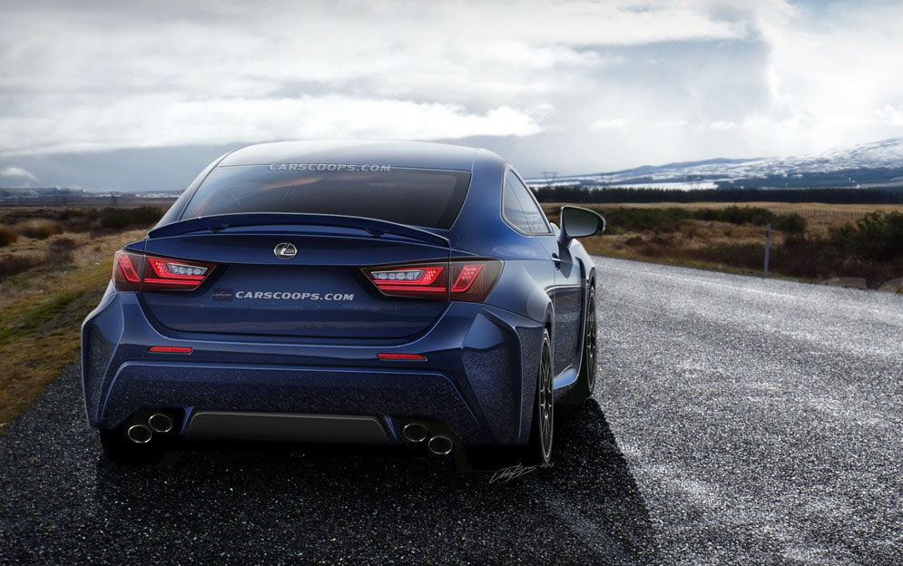 Lexus RC F Coupe Rendering Rear