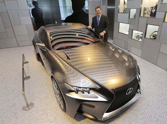 Lexus Mark Templin with Lexus LF-CC