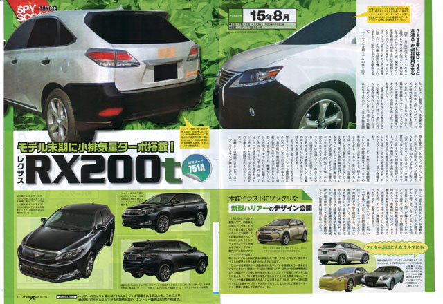 Lexus RX 200t Full Page from Mag-X