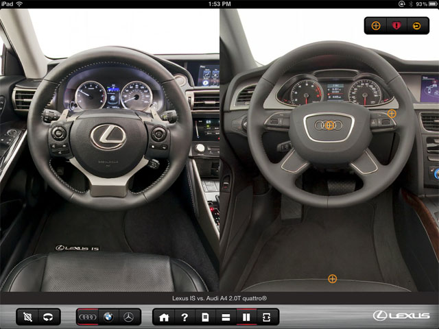 Lexus IS App Interior