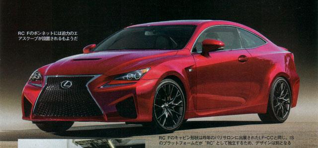 Lexus RC F Rendering