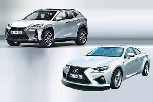 Lexus RC F & NX Renderings