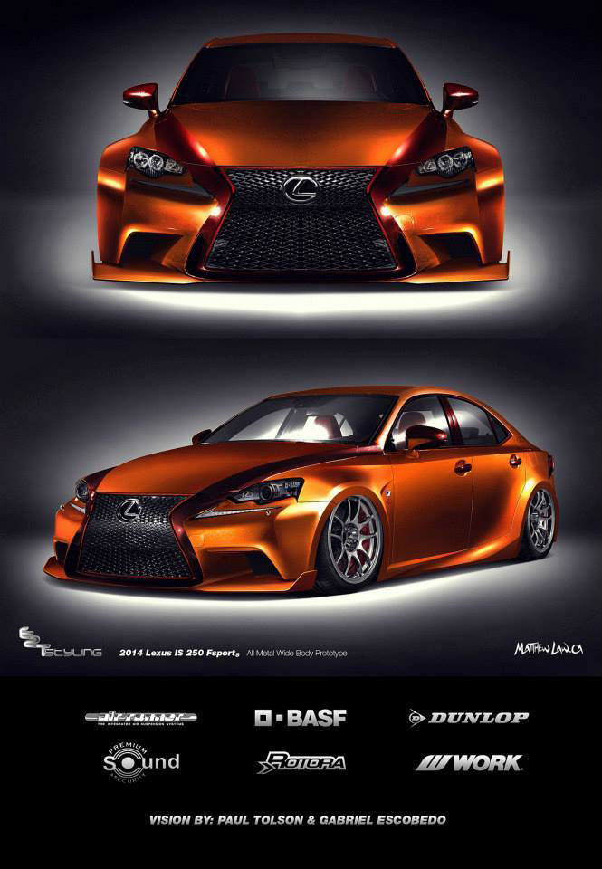 Lexus IS Wide Body EST Styling Promotional Poster