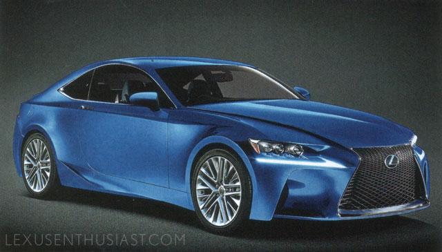 Lexus RC in Ultrasonic Blue