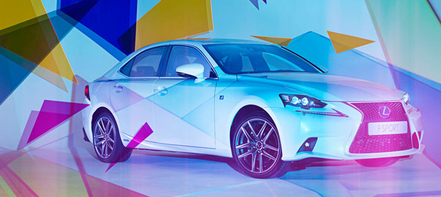 Lexus IS Art Installation with Wallpaper Magazine