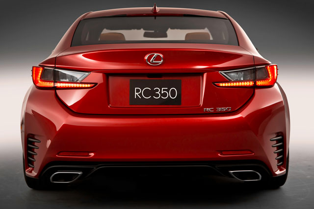 Lexus RC Rear View