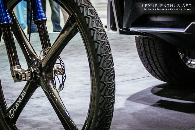 Lexus NXB Bicycle Wheel Tread Spindle Grille