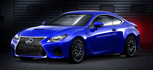 Lexus RC F Illustration