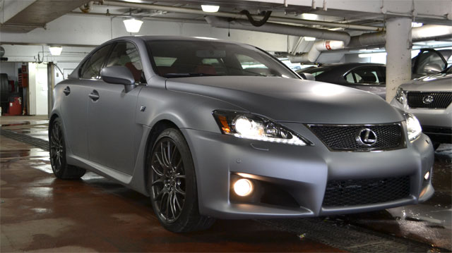 Lexus IS F in Matte Grey