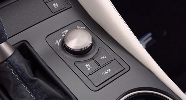 Lexus RC F Track Variable Drive button