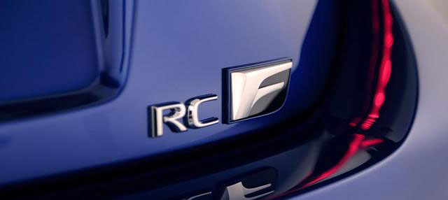 Lexus RC F Badge