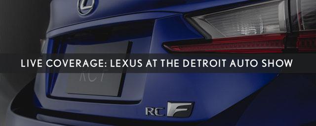 Lexus Detroit Auto Show 2014