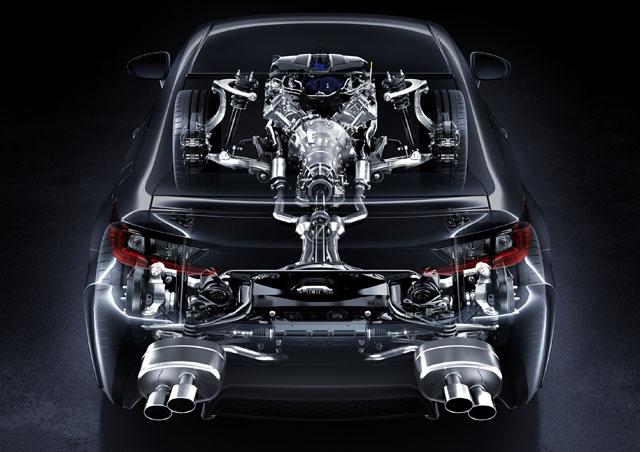 Lexus RC F Rear Cutaway
