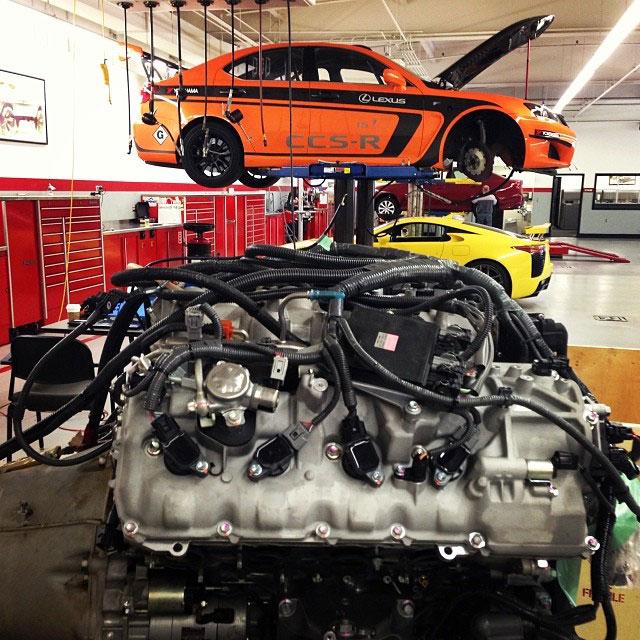 Lexus IS F CCS-R to RC F Engine Swap