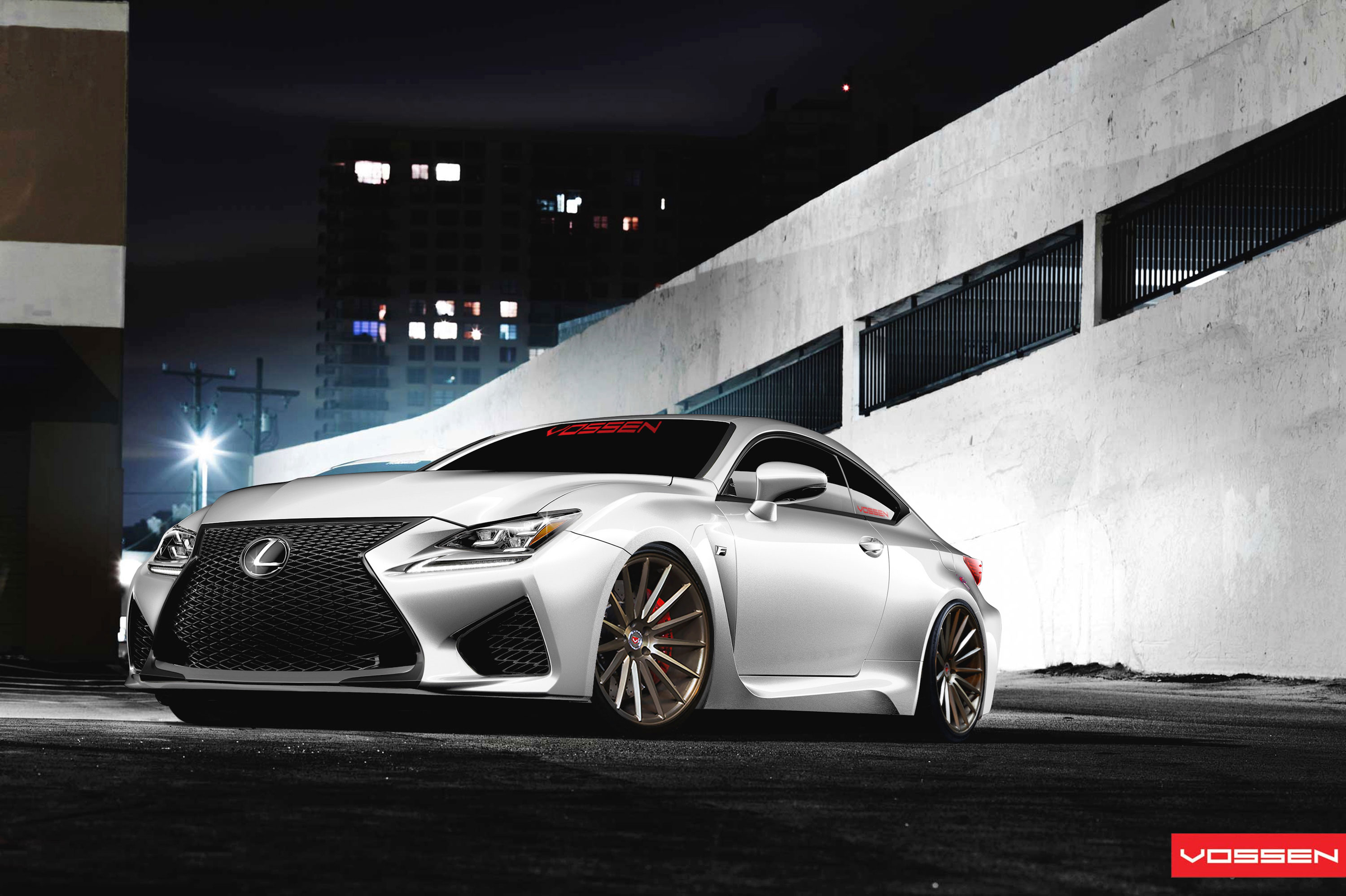 Rendered: Lexus RC F on Vossen Precision Series Forged ...