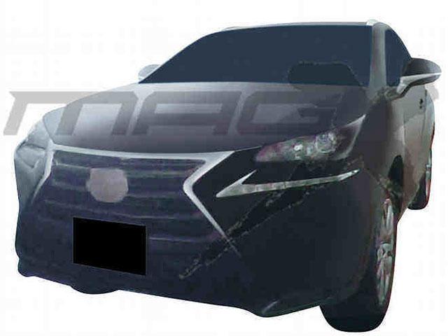 Lexus NX Camouflaged