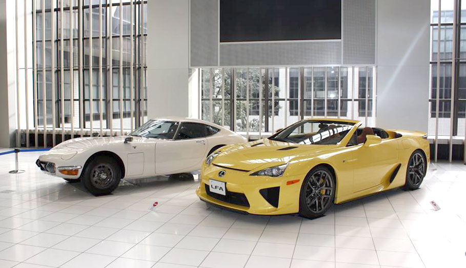 Lexus LFA Spyder and Toyota 2000GT