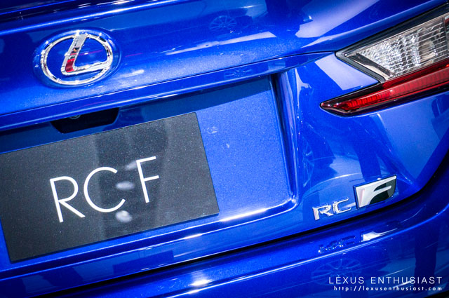 Lexus RC F Rear Badge