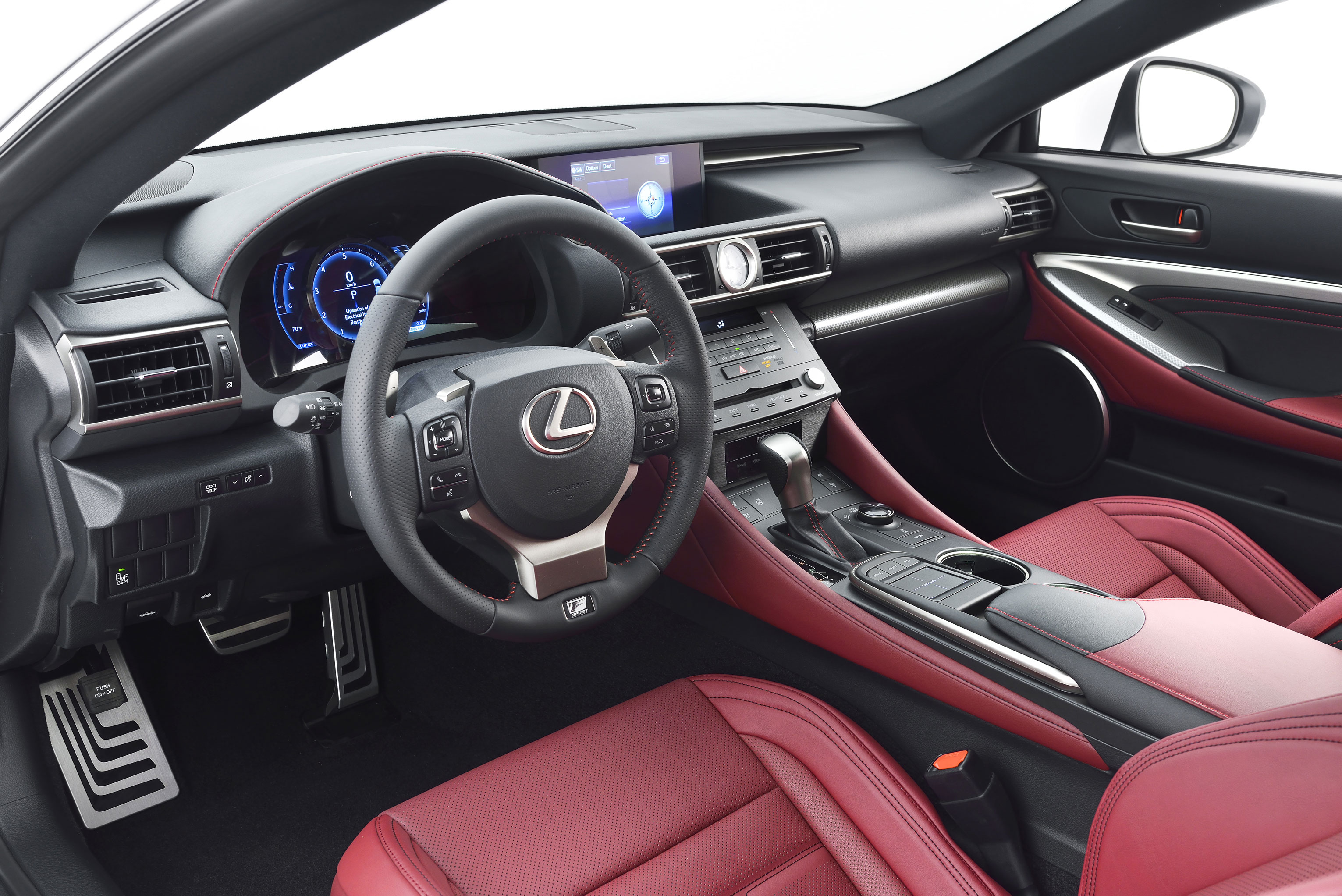 lexus rc f sport interior. Black Bedroom Furniture Sets. Home Design Ideas