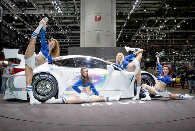 Lexus RC F GT3 with Cheerleaders