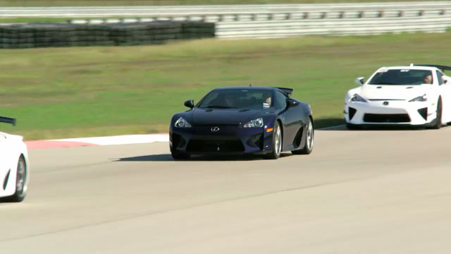 Lexus LFA Driving