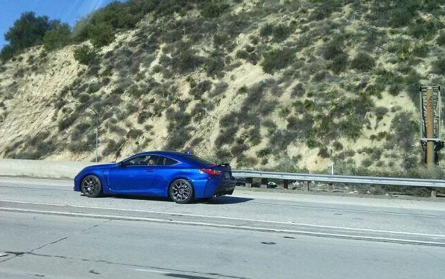 Lexus RC F Side Ultrasonic Blue
