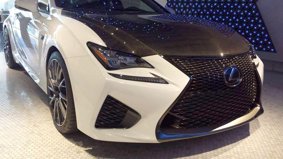 lexus rc f carbon fiber front