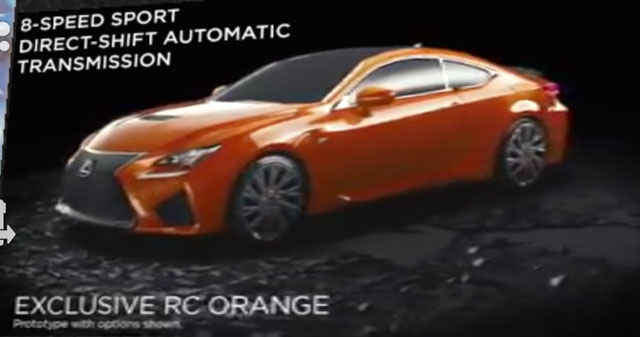 Lexus RC F in New Orange
