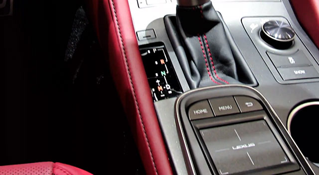 Lexus RC F SPORT Remote Touch Controller