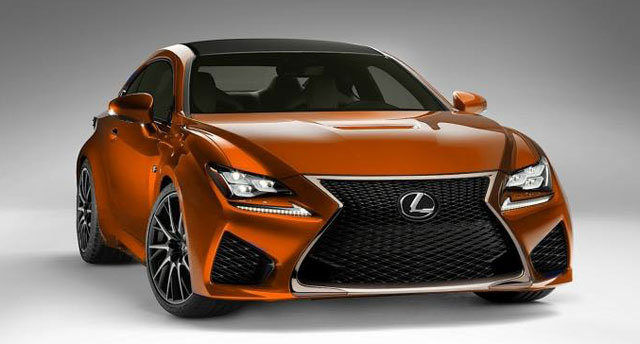 Lexus RC F in Orange