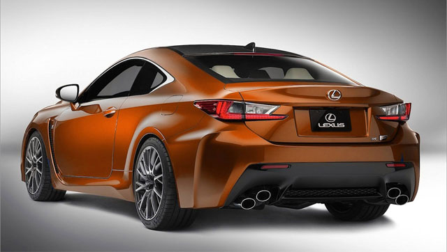 Lexus RC F in Orange Rear