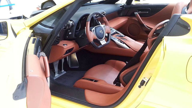 Yellow Lexus LFA Spyder Interior