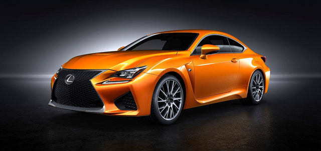Lexus RC F New Orange Color