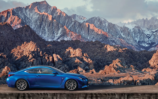 Lexus RC F Side Mountain Wallpaper