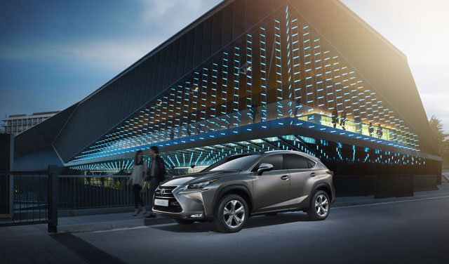 Lexus NX Blue Building