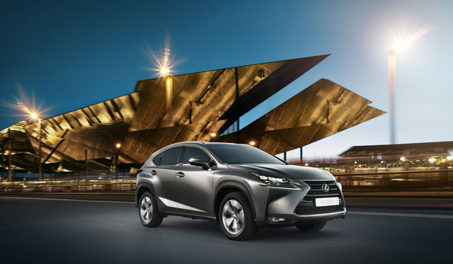 Lexus NX Yellow Building