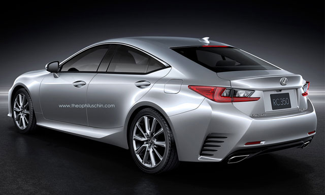 Lexus RC GT Rear