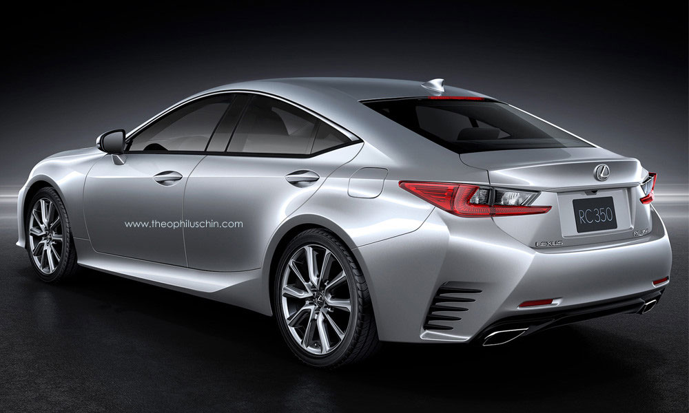 Awesome Lexus RC GT Rear