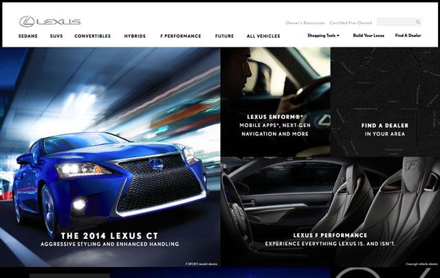 New Lexus USA Website