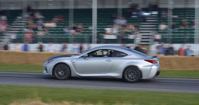 Lexus RC F at Goodwood
