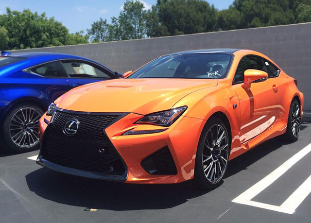 Lexus RC F Orange Solar Flare