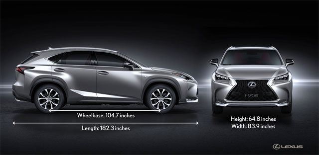 Lexus NX Measurements