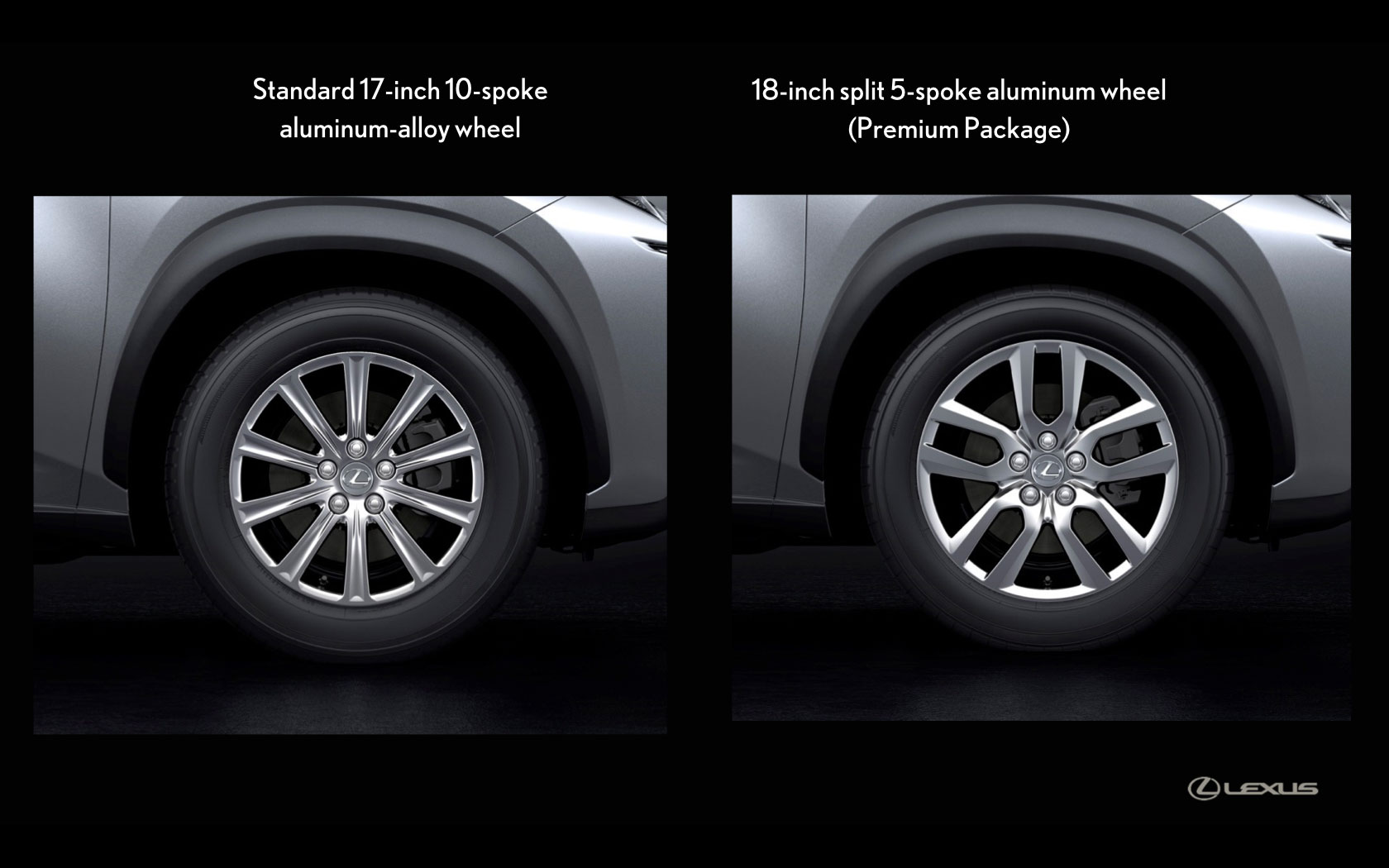 Lexus Nx Standard Wheel Options