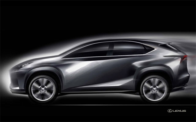 Lexus NX Design Sketch
