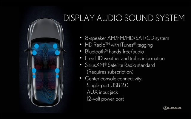 Lexus NX Display Audio Sound System